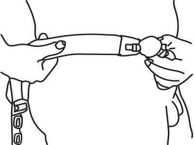 Оберните ремень вокруг талии
