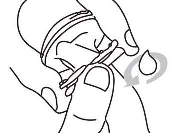 Надевание экстендера с помощью шланга