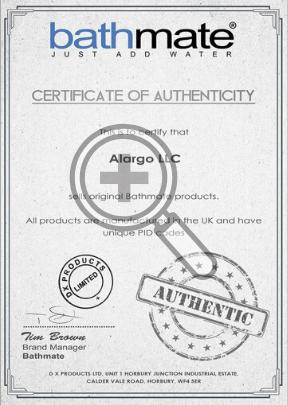 Сертификат подлинности гидропомпы Bathmate